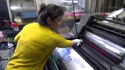 yerel gazete -  Bu matbaada çalışanların tamamı kadın