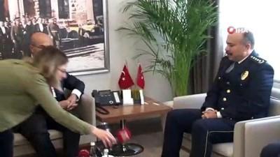 ali il -  'Uçan polis' ve arkadaşına validen başarı belgesi