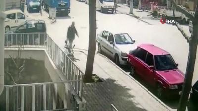 Isparta'da 5 aracın hasar gördüğü zincirleme trafik kazası kamerada
