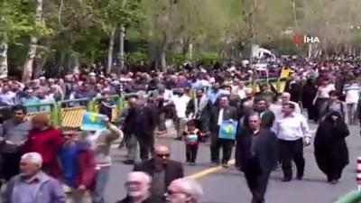 - İranlılardan Devrim Muhafızlarına destek yürüyüşü