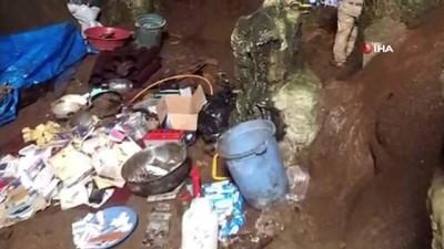Tunceli'de 2 sığınak imha edildi...Çok sayıda mühimmat ele geçirildi
