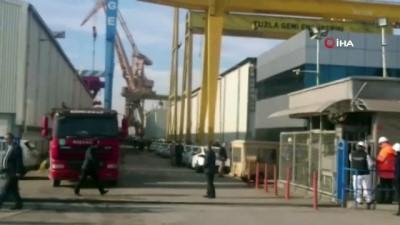 Tuzla'da 2 kişinin öldüğü gemi yangınına dava