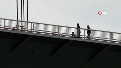Köprü'de intihar girişiminde bulunan şahıs polis tarafından ikna edildi