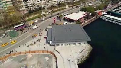 İlk etabı açılan Kabataş Meydanı ve Transfer Merkezi Projesi havadan görüntülendi