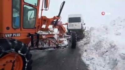 3 bin rakımlı Karapet Geçidi'nde karla mücadele İzle