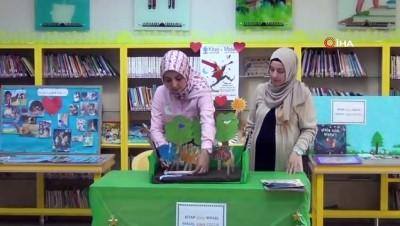 Çocuklar kitapları yaşayarak okuyor