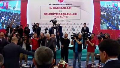 MHP Lideri Bahçeli:'31 Mart'ta; 1 büyükşehir, 10 il, 58 metropol ilçe, 78 ilçe, 89 belde olmak üzere toplam 235 belediye başkanlığını kazanmamız tesadüfi değil tarihi bir başarıdır'