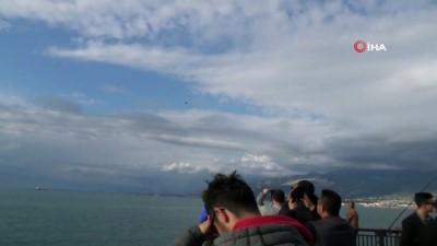 Solo Türk İskenderun'da gösteri öncesi prova yaptı