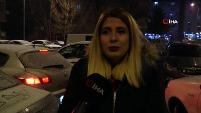 Erzurum'da kar yağışı sonrası kent beyaza büründü