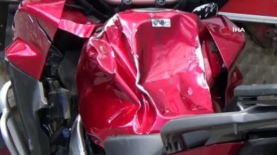 Bakımdan yeni çıkan tıra otoparka giderken motosiklet çarptı
