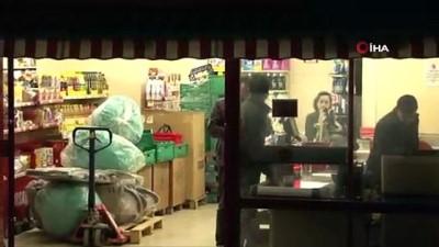 İki marketi birden soydu, paraları alıp kayıplara karıştı...Hırsızlık anları kamerada