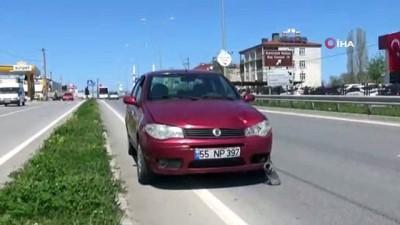 Yolun karşısına geçmek isterken otomobilin çarpmasıyla metrelerce uçan yaya hayatını kaybetti... Kaza anı kameraya yansıdı