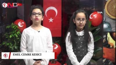 Nevşehir'de ilkokul öğrencileri ana haber bültenini sundu