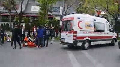saglik ekipleri -  Bakırköy'de motosiklet yayaya çarptı