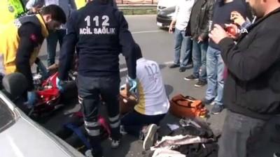 saglik ekipleri -  Beylikdüzü'nde feci kaza: 1 ağır yaralı