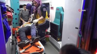 aydinlatma diregi -  Otomobil şarampole düştü: 1'i çocuk 6 yaralı