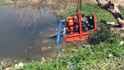 sivil savunma - Kerkük'te nehir taştı iki mahalle sular altında kaldı