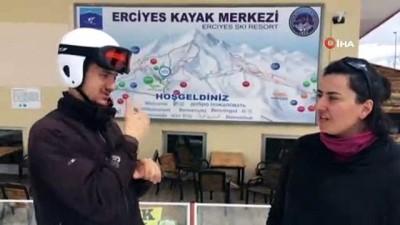 İşitme Engelli Kayak Milli Takımı, Kış Olimpiyatları'na Erciyes'te hazırlanıyor