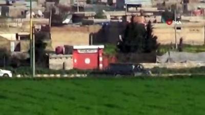 Kamışlı'da teröristlerin zırhlı aracı ve konvoyu görüntülendi