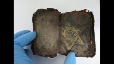 papirus -  Denizli polisinden 1500 yıllık 'Amuled' operasyonu...Mısır menşeili tarihi 2 kitap ele geçirildi