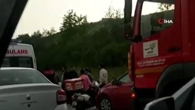 amator -  Hatay'da otomobil su kanalına devrildi: 4 yaralı