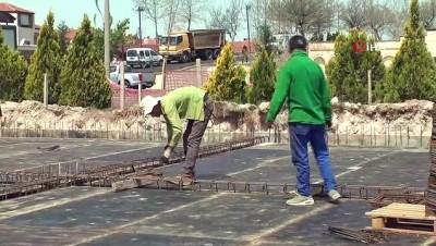İnşaat işçileri 1 Mayıs'ı çalışarak geçirdi