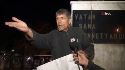 7 aydır işsiz olduğu için kendini Atatürk heykeline zincirledi