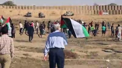 - İsrail askerlerinden Filistinlilere sert müdahale:  1 ölü, 30 yaralı