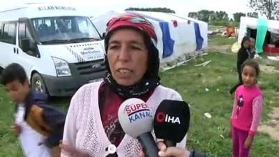 tarim iscisi -  Tarım işçilerin zorlu hayatları...Günlük 50 ile 60 lira kazanan işçiler, 7 çadırın olduğu alanda 27 kişi yaşıyor