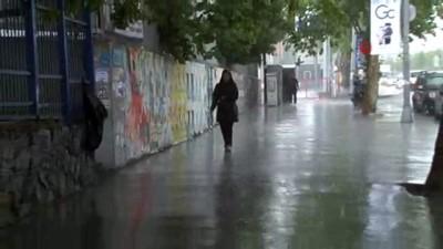 saganak yagis -  İstanbul'da dolu sürprizi