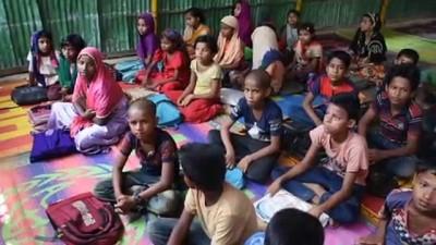 beden egitimi - Vatanlarından uzak Arakanlı çocuklar geleceğe hazırlanıyor - COX'S BAZAR