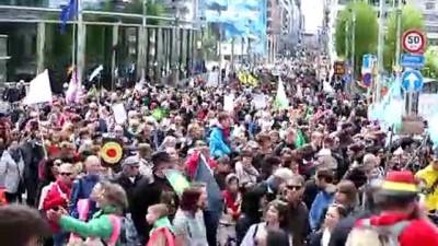 iklim degisikligi - İklim değişikliği protestosu - BRÜKSEL