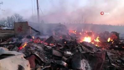 Çorum'da 8 ev, 1 ahır ve depo kül olduğu yangının boyutu gün ağırınca ortaya çıktı