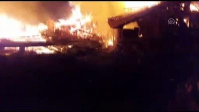 Köyde çıkan yangında 11 ev kullanılamaz hale geldi - ÇORUM