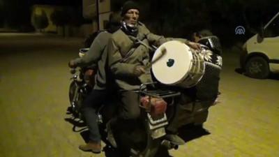 bulduk - Sepetli motosiklette ramazan davulu çalıyorlar - GAZİANTEP