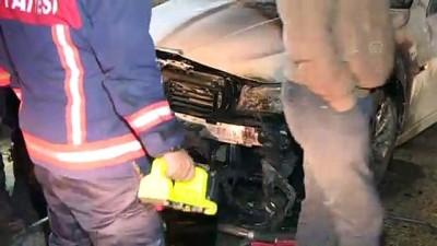 Başkentte araç kundaklama iddiası