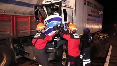 Bolu'da kamyonlar çarpıştı: 1 yaralı