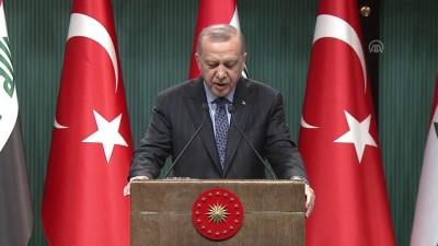 Cumhurbaşkanı Erdoğan: 'Türkiye-Irak arasında bir askeri işbirliği ve güven anlaşmasının yapılmasına karar verdik' - ANKARA