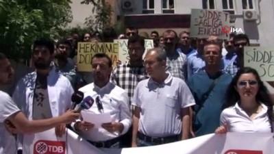 Mardin'de doktora şiddet protesto edildi