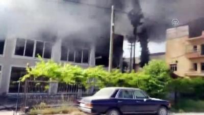 yangina mudahale - Mersin'de fabrika yangını