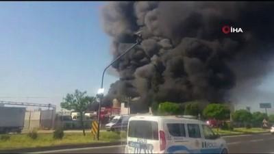 yangina mudahale -  Mersin'de strafor fabrikasında yangın