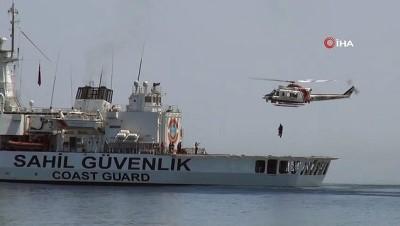 kuru yuk gemisi -  200'den fazla personelle gerçekleştirilen arama kurtarma tatbikatı nefes kesti