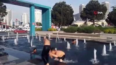 hava sicakliklari -  Çocukların süs havuzunda tehlikeli eğlencesi