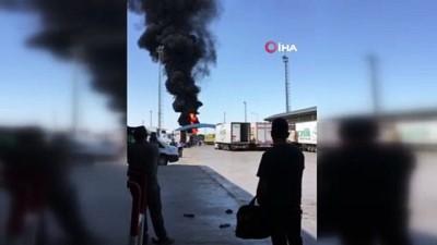 Dilucu Gümrük Kapısı'nda yangın: 1 yaralı