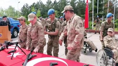 Engellilerin bir günlük temsili askerlik heyecanı - KASTAMONU