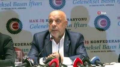 HAK-İŞ Genel Başkanı Mahmut Arslan basın mensuplarıyla iftar'da buluştu.