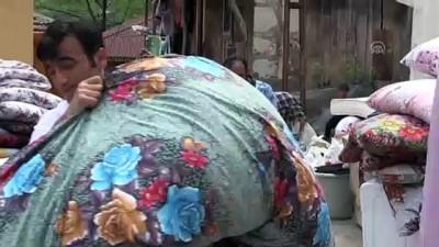 Ordu'daki heyelan - Vatandaşların evlerini tahliyeleri sürüyor