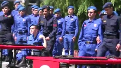 Tekirdağ'da engelli gençlerin askerlik heyecanı