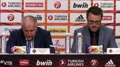 pazar gunu - Basketbolda maçın ardından - Fenerbahçe Beko Başantrenörü Obradovic - VITORIA-GASTEIZ