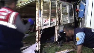 Kaçak göçmenleri taşıyan kamyon devrildi: 5 ölü, 37 yaralı